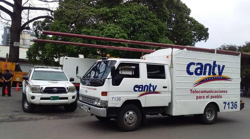 Cantv reparó redes en varias parroquias de Caracas