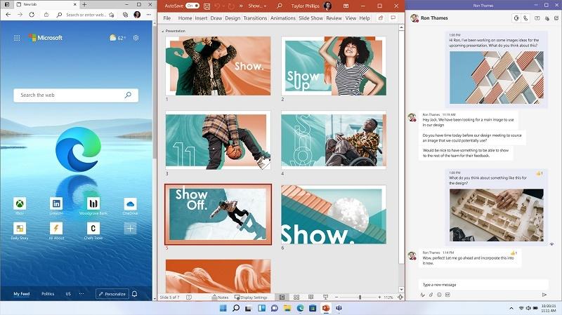 Windows 11 Snap Desktop Screen
