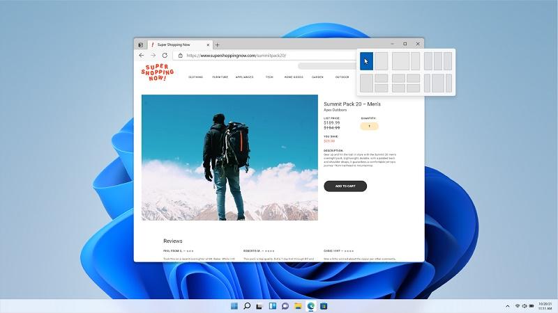 Windows 11 Snap Screen