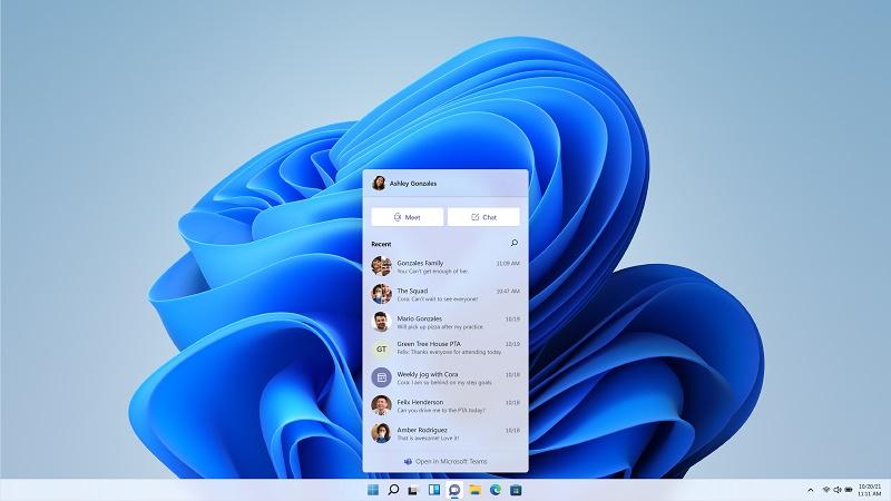 Windows 11 Teams Integration Screen