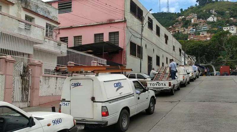 Cantv trabaja en La Pastora para restituir los servicios a más de 3.000 suscriptores