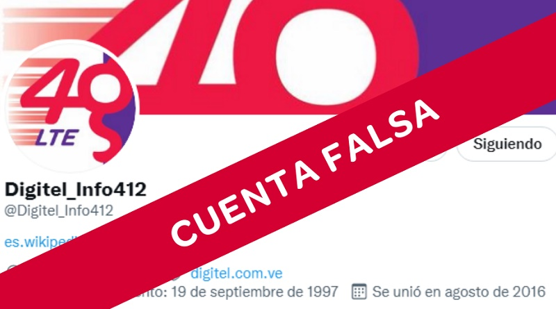Digitel Cuenta Falsa Twitter